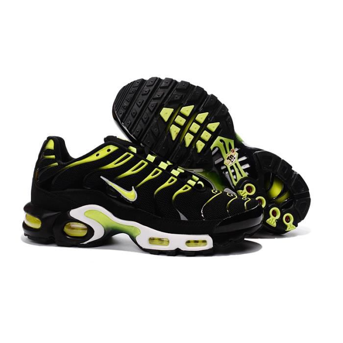 81f2c9b6dfc Nike Air Max Plus TN Noir et Jaune - Achat   Vente basket - French ...