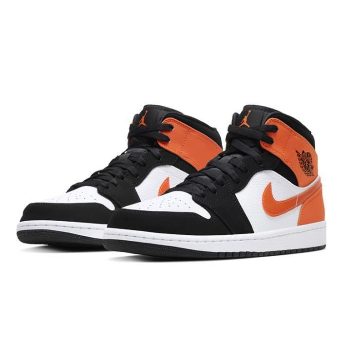 air jordan noir et orange