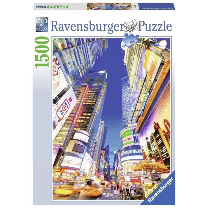 PUZZLE Puzzle 1500 pcs Times Square Au Crépuscule - Raven