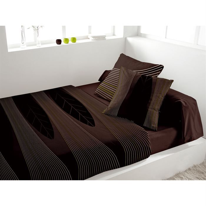 parure de lit 5 pi ces spirit chocolat achat vente parure de drap cdiscount. Black Bedroom Furniture Sets. Home Design Ideas