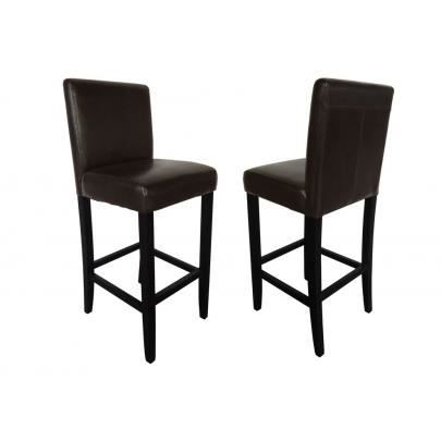 lot de 2 tabourets de bar palermo simili chocola achat vente tabouret de bar marron. Black Bedroom Furniture Sets. Home Design Ideas