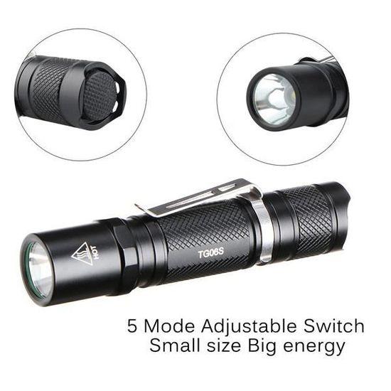 DEL Torche Tactique Super Bright-Set comprenant 1 grand 3 mini pack