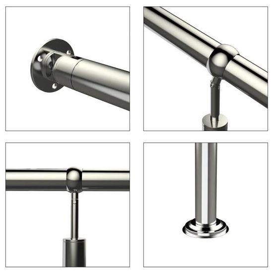 Mctech/® rampe dentr/ée en acier inoxydable pour l/'ext/érieur ou l/'int/érieur