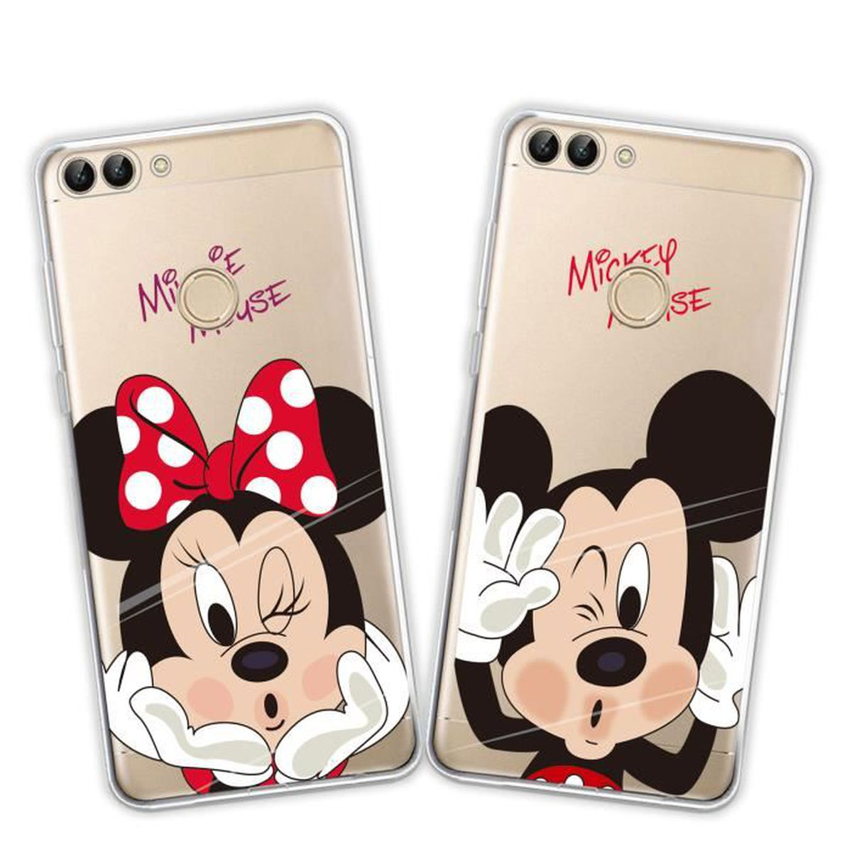 2 x coque huawei p smart disney mouse doux souple transparent tpu housse tui pour huawei p. Black Bedroom Furniture Sets. Home Design Ideas