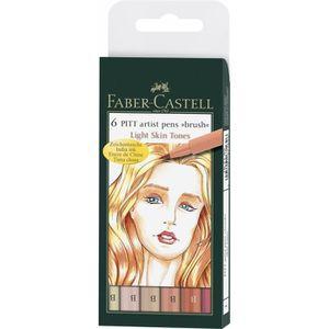 FEUTRES FABER-CASTELL 6 Feutres Pitt Couleurs de Chair Man