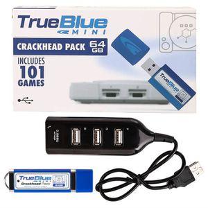 CONSOLE PS1 True Blue Mini Crackhead Pack 101 Jeux 64G pour Pl
