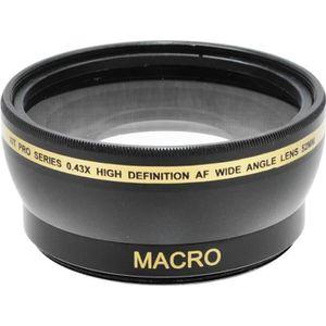 COMPLÉMENT OPTIQUE Objectif Convertisseur Grand Angle 0,43x 52mm avec