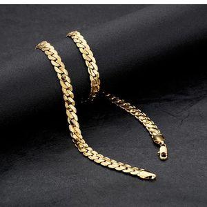CHAINE DE COU SEULE  Collier chaîne en or jaune 18 carats pour hommes