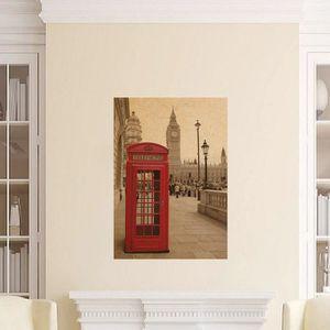 STICKERS Retro Vintage Print London Rouge Téléphone Boîte e