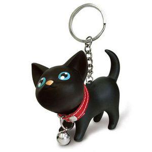 PORTE-CLÉS Chaton Chat Keychain Porte-clés de Bell Toy Amant