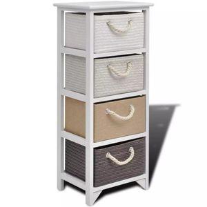 ARMOIRE DE CHAMBRE R2 Cet armoire de rangement avec 4 tiroirs va ajou