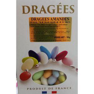 DRAGÉES Coffret de Dragée aux amandes Multi-Couleur 1KG
