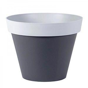 Pot de plantation en béton avec cerf 21 cm Gris-Blanc