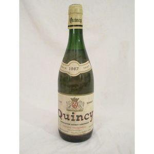 VIN BLANC quincy domaine trotereau  blanc 1987 - loire - cen