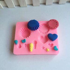 6pcs Gâteau Cookie Mould Mold Cutter pétales de rose forme À faire soi-même Outils Pour Cuisine Fonda