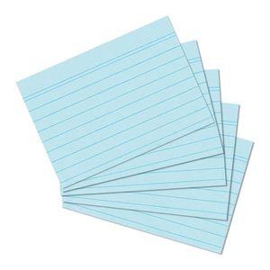 Office line fiches bristol blanc 190 g format a5-lign/é-lot de 100