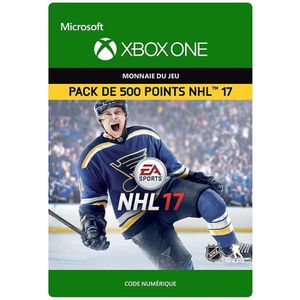 EXTENSION - CODE DLC NHL 17: 500 Points NHL pour Xbox One