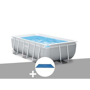 PISCINE Kit piscine tubulaire Intex Prism Frame rectangula