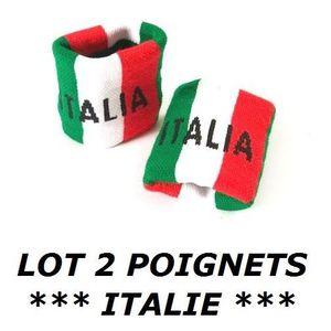 POIGNET ÉPONGE LOT 2 Bracelets poignet éponge 100% coton ITALIE I