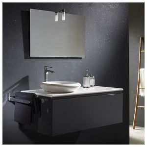 meuble salle de bain gris achat vente meuble salle de. Black Bedroom Furniture Sets. Home Design Ideas