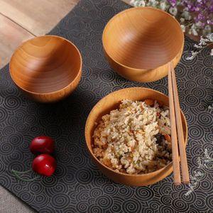 BOL Soupe aux nouilles en forme de bol de riz en bois