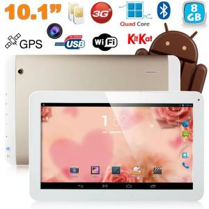 TABLETTE TACTILE Tablette 10 pouces 3G Quad Core GPS 8Go Or