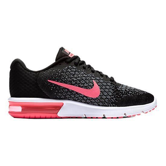 Baskets Nike Air Max Sequent 2 noir gris rose femme Noir ...