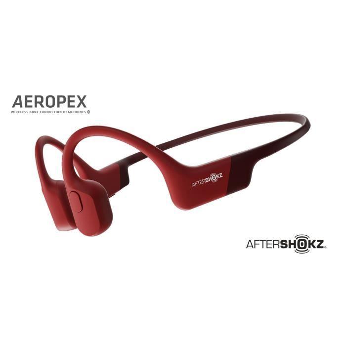 Aftershokz Ecouteurs sans fil Aeropex Rouge - 0811071032162