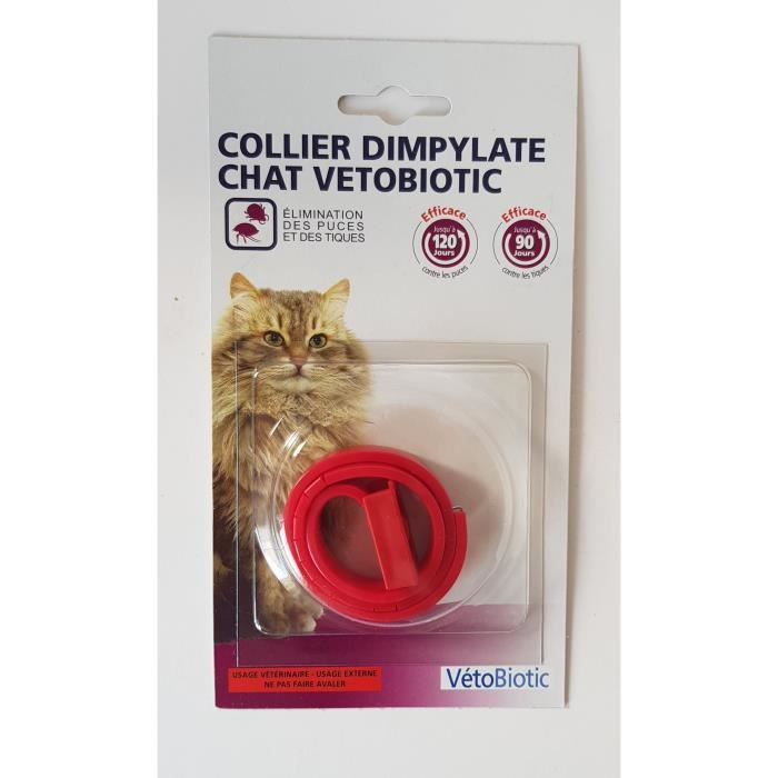VETOBIOTIC COLLIER DIMPYLATE ROUGE CHAT