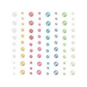 Perles autocollantes multicolores