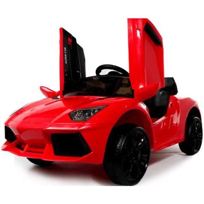 Lamborghini Style 12v voiture électrique pour enfants Rouge - Voiture électrique pour enfant avec batterie 12v et télécommande