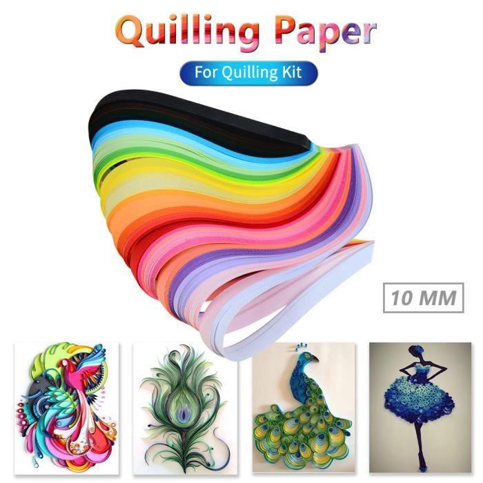 260PCS 26 couleurs Quilling bandes papier Quilling 10mm pour Quilling Kit - _SHI27611