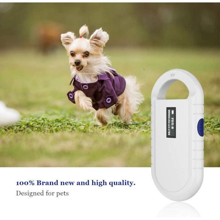 Tonysa Lecteur Universel RFID Lecteur de Puce d'animal familier Handheld Microchip Scanner de Puce pour RFID ISO 11784-1 312724