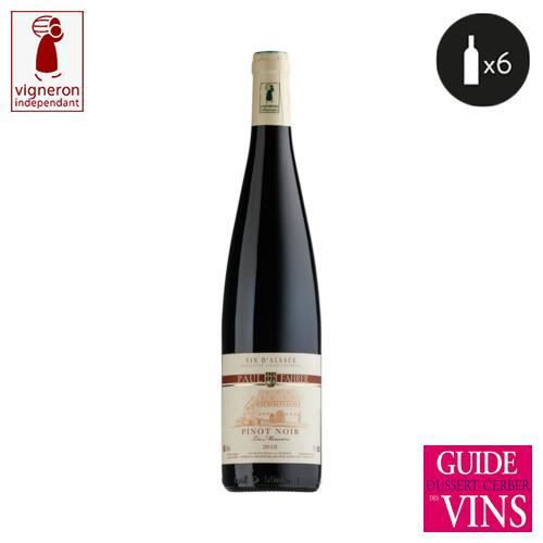 6 bouteilles - Vin rouge - Tranquille - Domaine Paul Fahrer Les merisiers Alsace Pinot noir Rouge 2018 6x75cl