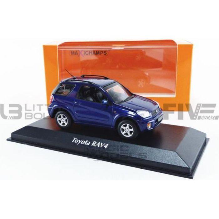Voiture Miniature de Collection - MAXICHAMPS 1/43 - TOYOTA RAV 4 - 2000 - Dark Blue Metallic - 940166000