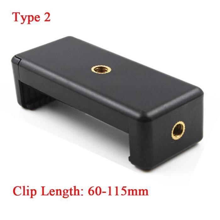 Clip de téléphone universel pour trépied à vis de 1-4 pouces, support de téléphone monopode à 360 degrés pour [656B1B8]