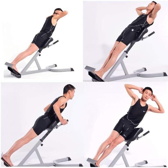 Bancs de Musculation Chaise Romaine de Gym à Domicile Équipement Professionnel de Tabouret Romain Appareil de Musculation du Do[213]