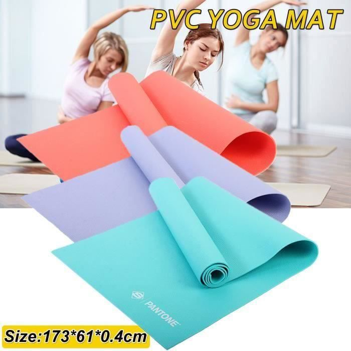 Tapis de Yoga Portable Tapis de Sol Antidérapant Sport Gym imperméable à l'eau 173x61x0.4cm VERT Aw57313