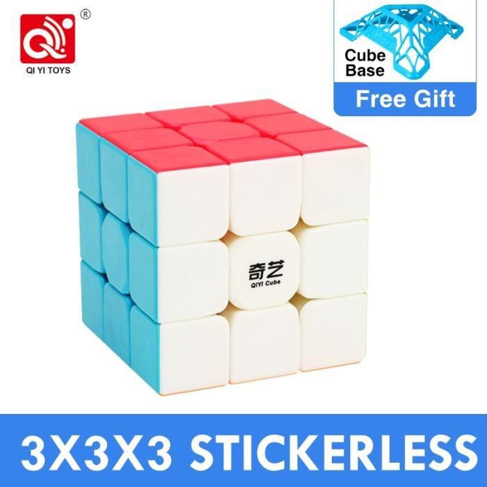 Casse tête,Moins cher QiYi guerrier S 3x3x3 Cube magique voile W professionnel Qidi S 2x2x2 3x3 vitesse Puzzle - Type 3x3 Warrior S