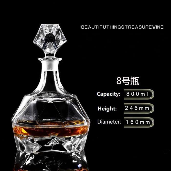 Bouteille de vin rouge en verre de cristal + tasses, carafe à vin, whisky Liqour verseur, Bar à domicile, bouteille de b*DE8098