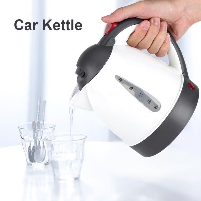 1000mL 12 V Portable voiture bouilloire allume-cigare prise chauffe-eau bouteille pour thé café voyage HB011