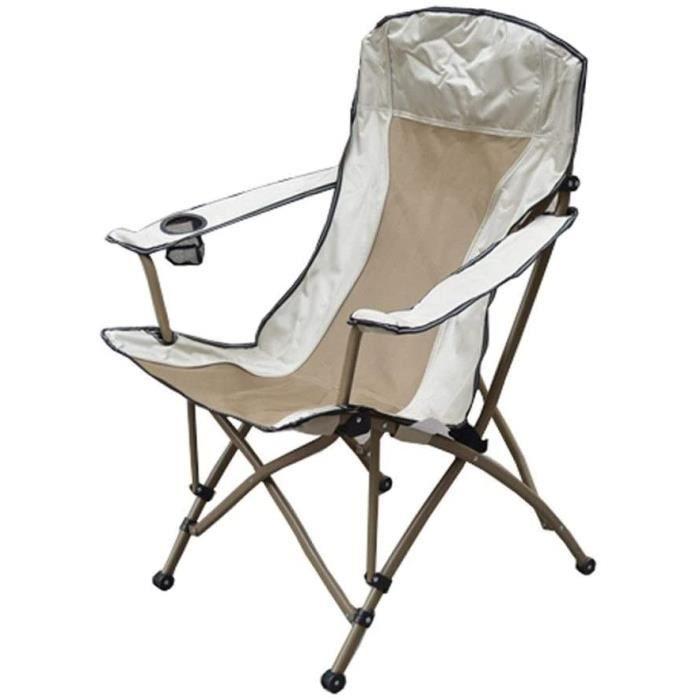 CHAISE DE CAMPING haise Pliante Camping Legere Chaise De Camping Fauteuil Pliante avec PorteBoisson Aluminium Compact Portatives1863