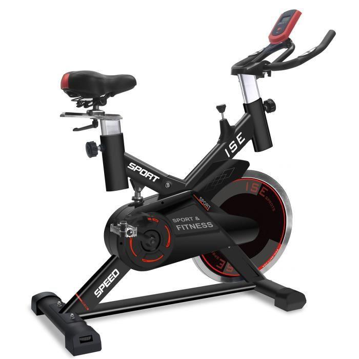 ISE Vélo biking ,Poids d'inertie 15 KG avec Programme et l'Ecran LCD, Supports pour Bras, cardiofréquencemètre, Silencieux