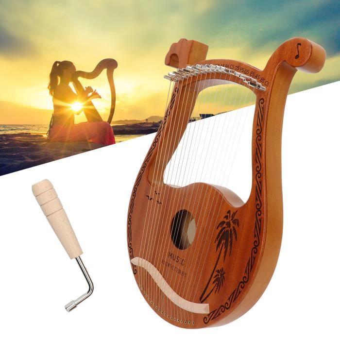 Acajou Lyre, harpe de lyre ton chaud dureté, densité pour enfants