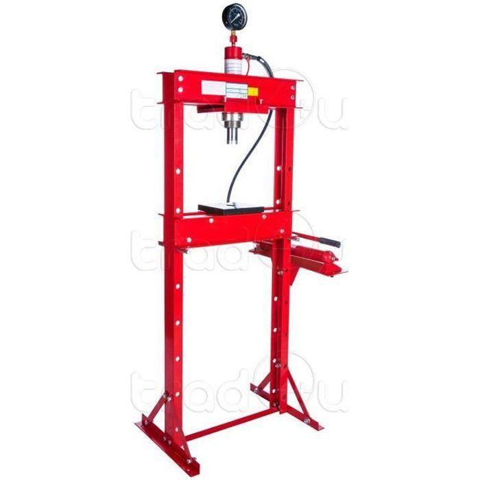 Atelier Garage Presse Hydraulique 20 tonnes avec pompe à piston et manomètre