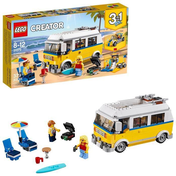 Jeu D'Assemblage LEGO Créateur 3in1 soleil Surfer Van 31079 Kit de construction (379 pièces) X8XL0