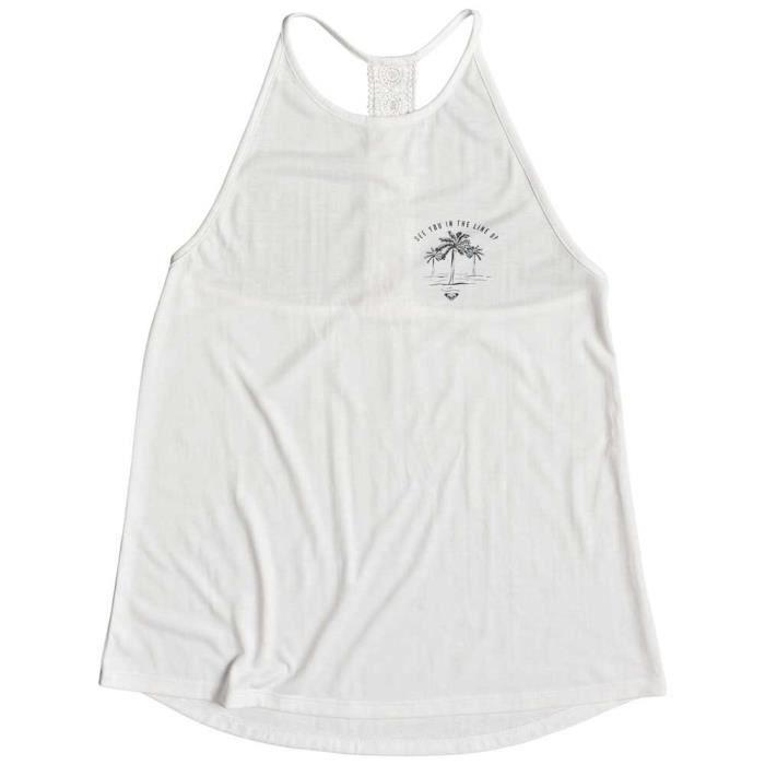 vêtements femme t-shirts roxy sunset valley lace. haut à bretelles pour femme.caractéristiques:matière :mélange drapé léger de polye