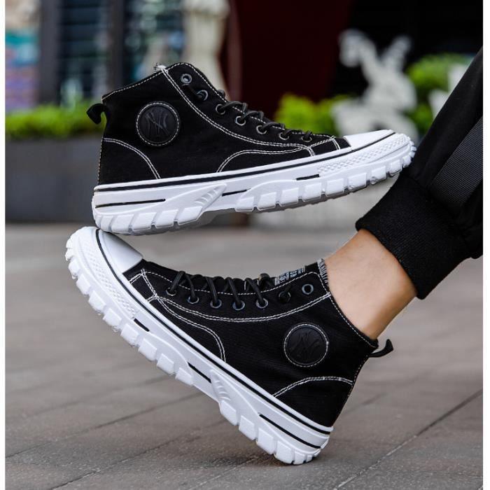 chaussures en toile HI-top Sneakers Homme Femme basket Mixte chaussures