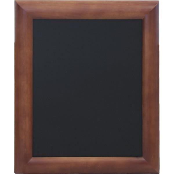 Ardoises murales noires pour cafés et restaurants encadrement bois coloris wenge 30*40cm