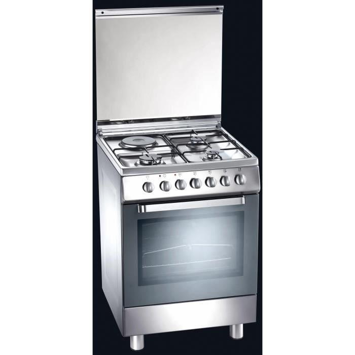 Tecnogas D61XS, Cuisinière, Acier inoxydable, Rotatif, Devant, Combi, acier émaillé